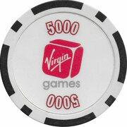 Poker Chip - Virgin Games (5000) – revers