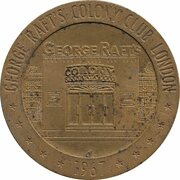 Jeton - George Raft's (Colony Club London) – revers