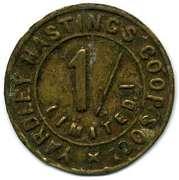 1 Shilling - Yardley Hastingd CSL (Northamptonshire) -  avers