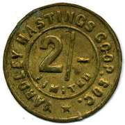 2 Shillings - Yardley Hastings CSL (Northamptonshire) -  avers