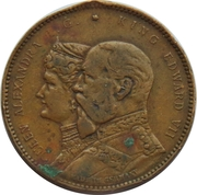 Token - Edward VII and Queen Alexandra (Royal Visit to Bermingham) – avers