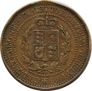 Token - Edward VII and Queen Alexandra (Royal Visit to Bermingham) – revers