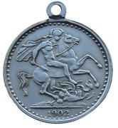 Medallion - Edward VII Coronation Coin – revers