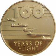 Token - 100 Years of Flight (Boing 747 'Jumbo Jet') -  revers