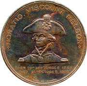 Amiral Horatio Nelson Médaille – avers