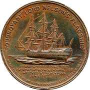 Amiral Horatio Nelson Médaille – revers
