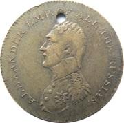 Paix de Paris 1814 Alexandre de Russie – avers