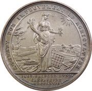 Medal - Royal Lancashire Agricultural Society – revers