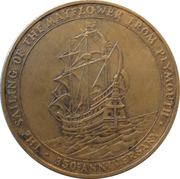 Token - Sailing of the pilgrim fathers (Plymouth) -  avers