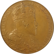Medal - King Edward VII and Queen Alexandra Coronation – avers