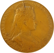 Medal - King Edward VII and Queen Alexandra Coronation – revers