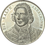Medal - Sir Ralph Abercromby (Centenary of the capture of Trinidad) – avers