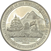 Medal - Sir Ralph Abercromby (Centenary of the capture of Trinidad) – revers