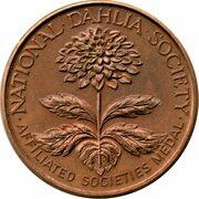 Medal - National Dahlia Society (Bronze) – avers