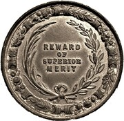 School Medal - Reward of Superior Merit, Good Conduct. – revers