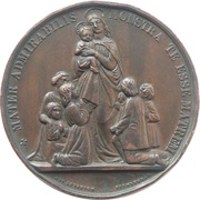 Catholic School Committee Medal - Reward for Good Conduct – avers