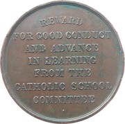 Catholic School Committee Medal - Reward for Good Conduct – revers