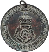 School Attendance Medal - Hampshire County Council (Perfect Attendance And Good Conduct) – avers
