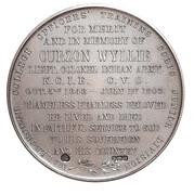 Lieut. Colonel Curzon Wyllie Memorial Medal Marlborough College – revers
