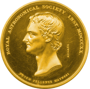 Gold Medal - Royal Astronomical Society – avers