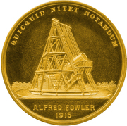Gold Medal - Royal Astronomical Society – revers