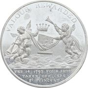 Earl St. Vincent (Victory at the battle of Cape St Vincent) – revers