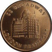 Medal - London Transport Diamond Jubilee – revers