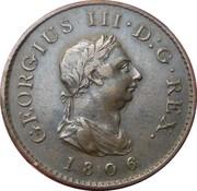 1 farthing George III (2e effigie, sans valeur faciale, cuivre) – avers