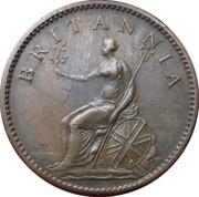 1 farthing George III (2e effigie, sans valeur faciale, cuivre) – revers