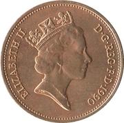 2 pence Elizabeth II (3e effigie, bronze) -  avers