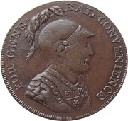 ½ Penny (Middlesex - For General Convenience) – avers