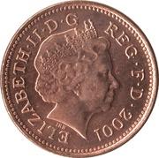 1 penny Elizabeth II (4e portrait; magnétique) -  avers