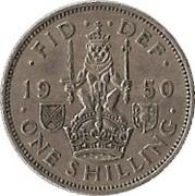 """1 shilling George VI (cimier de l'Écosse, sans """"IND:IMP"""") -  revers"""
