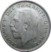 ½ couronne George V (1ère effigie, argent 500‰) -  avers