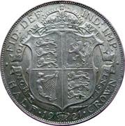 ½ couronne George V (1ère effigie, argent 500‰) -  revers