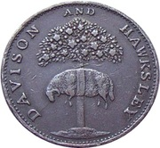 Scarce Davison & Sixpence Hawksley Arnold 1791 – avers