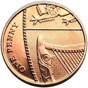 1 penny Elizabeth II (5e effigie) -  revers