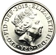 5 pence Elizabeth II (5e effigie) -  avers