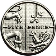 5 pence Elizabeth II (5e effigie) -  revers