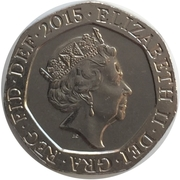 20 Pence Elizabeth II (5e effigie) -  avers