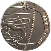 20 Pence Elizabeth II (5e effigie) -  revers