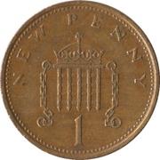 1 nouveau penny Elizabeth II (2e portrait) -  revers