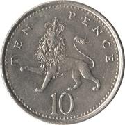 10 pence Elizabeth II  (3e effigie, petit module, cupronickel) -  revers