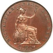 ½ penny Guilaume IV – revers