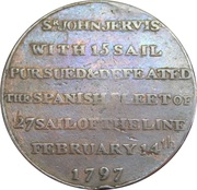 ½ Penny (Hampshire - Portsmouth / Thomas Sharp) – revers