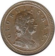 ½ penny George Ier (2e effigie) – avers
