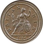 ½ penny George Ier (2e effigie) – revers