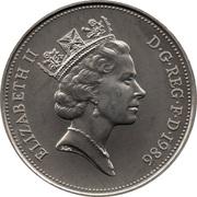 10 pence Elizabeth II (3e effigie, grand module, cupronickel) -  avers