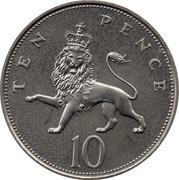 10 pence Elizabeth II (3e effigie, grand module, cupronickel) -  revers