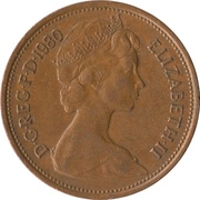 2 nouveaux pence Elizabeth II (2e effigie) -  avers